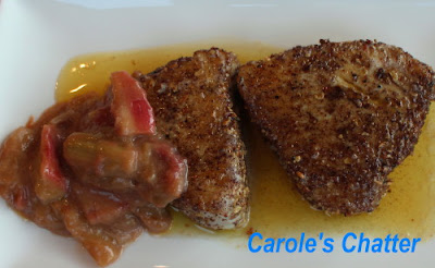 Carole's Chatter: Peppered Tuna with sharp rhubarb