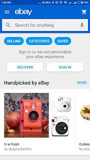 eBay Aplikasi Menghasilkan uang di Android