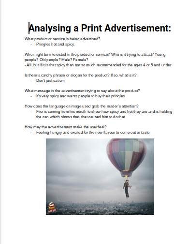 analysis of printed advertisement If an advertisement is printed on paper, be it in newspapers, magazines, newsletters, flyers, or direct mail, it comes under the banner of print advertising.