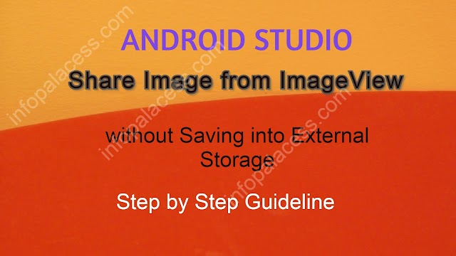 Share Pictures from ImageView In Android Studio without Saving into External Storage
