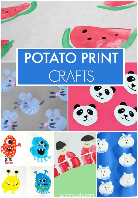 Cute potato stamp art crafts for kids!