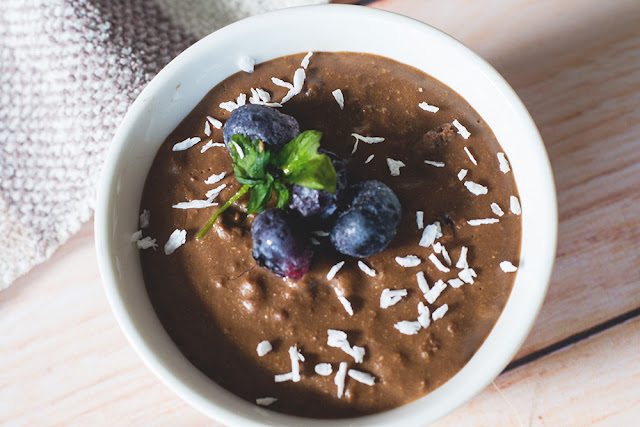 budyń jaglany z czekoladą