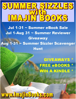 SUMMER SIZZLES WITH IMAJIN BOOKS' MONTH-LONG KINDLE BOOK SALE - AND A FREE KINDLE GIVEAWAY COMING SOON!