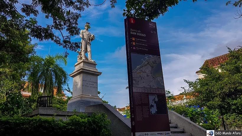 Praça San Diego - Diário de bordo: 4 dias em Cartagena, Colômbia