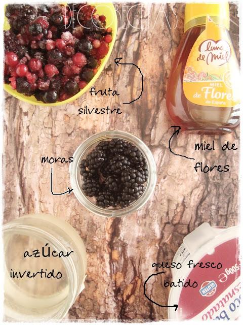 Helado de frutas silvestres