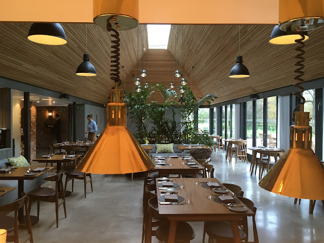 View from the open kitchen at The Woodspeen