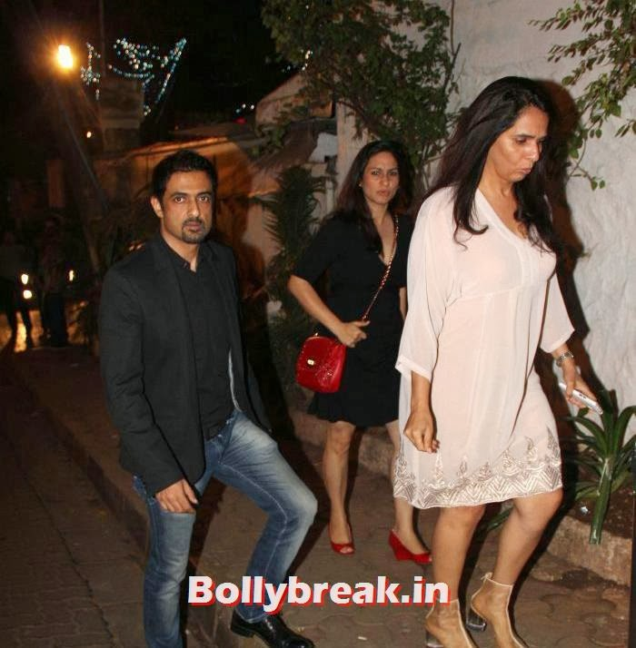 , Sangeeta Bijlani, Abhay Deol & Others Spotted at Olive, Mumbai