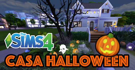 GAMEPLAY NO CANAL!!! Construindo uma casa decorada para o Halloween | The Sims 4