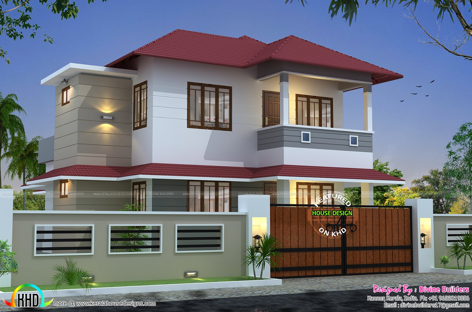 Gandul 1730 sq ft 3 bedroom modern house for Modern house 3