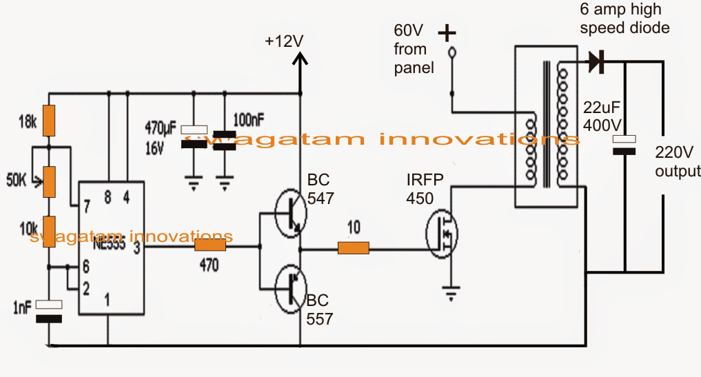 Solar 3 Phase Inverter Circuit ~ Electronic Circuit Projects