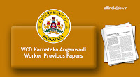 WCD Karnataka Anganwadi Worker Previous Papers