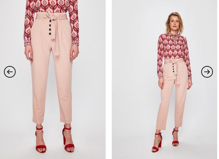 Tally Weijl - Pantaloni roz casual de femei