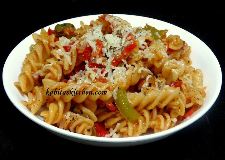 Vegetable Cheesy Pasta Recipe Indian Style Easy And Delicious Rceipe