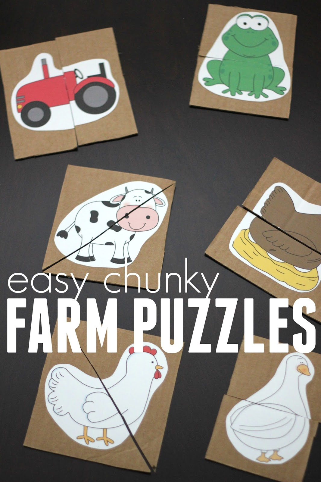 Toddler Approved Hide And Match Farm Animal Puzzle Game