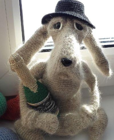 Мистер Шерлок. Вязаная игрушка
