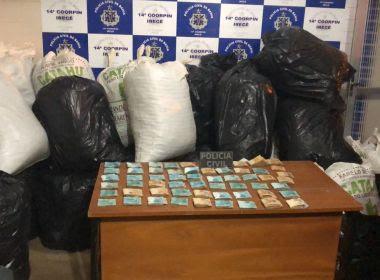 Polícia prende 3, apreende 430 kg de maconha e encontra R$ 55 mil