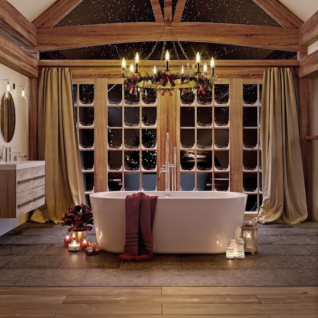 Indulgent bathroom ideas for a winter soak