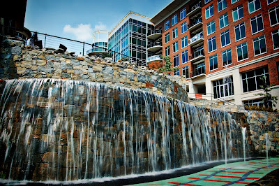 Hampton Inn and children's play area in downtown Greenville, SC