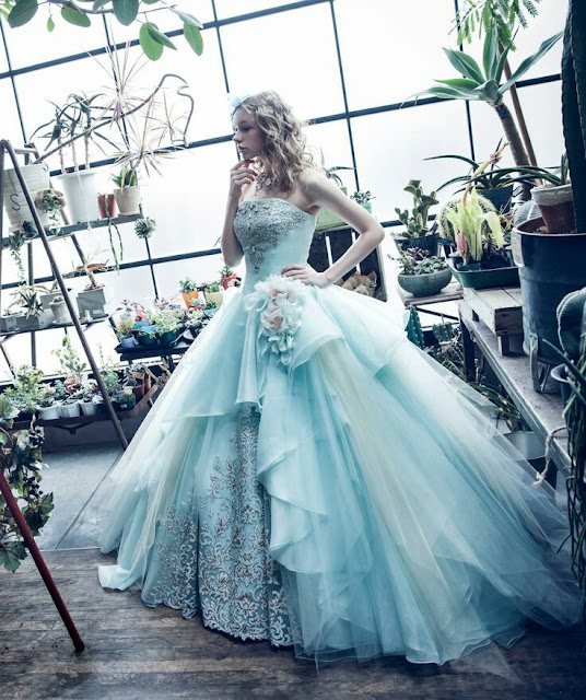 Ice blue ballgown