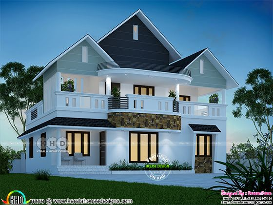 1900 square feet 4 bedroom dream home design