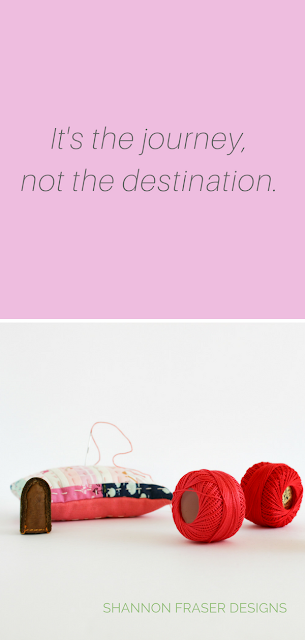 It's the journey not the destination | Shannon Fraser Designs | Modern Quilter