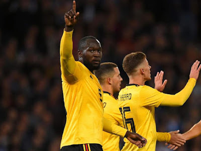 Lukaku scored twice in Belgium's win against Iceland