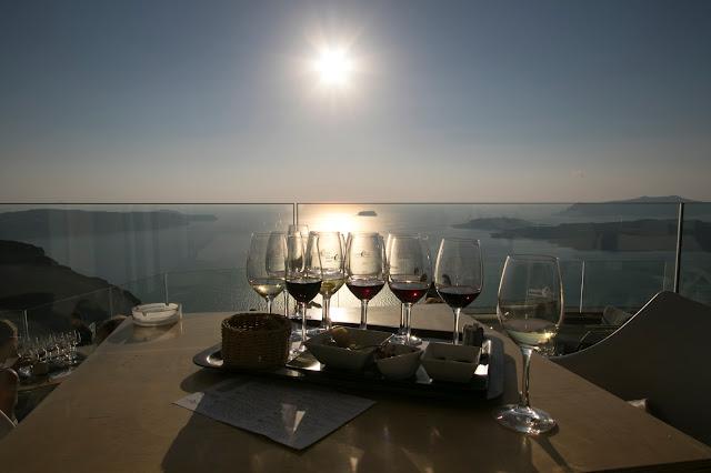 Degustazione vini da Santo Wines-Santorini