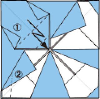 Bước 10: Gấp giấy như hình vẽ