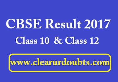 CBSE result 2017 Class 10 Class 12