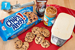 Yummy CHIPS AHOY! Peanut Butter Ice Cream Cake