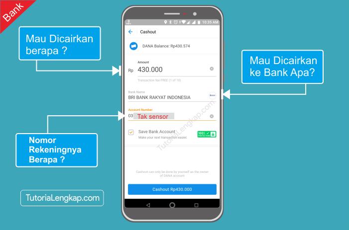 Tutorialengkap 3 Cara Mencairkan atau Tarik Saldo Dana Ke rekening Bank