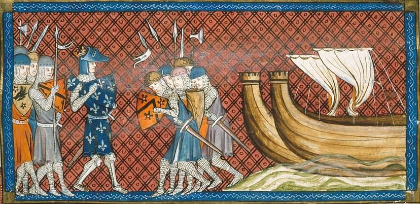 Perang Salib Kedua dan Louis lukisan perang Perang Salib VII