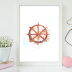 ↣ FREE Watercolor - Ship Rudder Watercolor Card