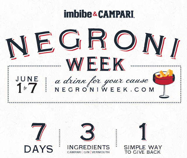 Negroni Week Description- drink for your cause