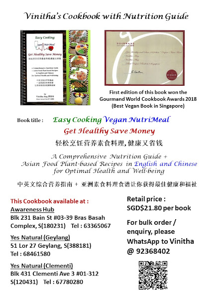 Asian food recipes Cookbook with Nutrition guide 亚洲素食食谱与营养指南