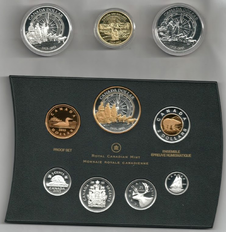 Coin collection - 100th Anniversary of the Canadian Arctic Expedition (year 2013) - [Reverse]