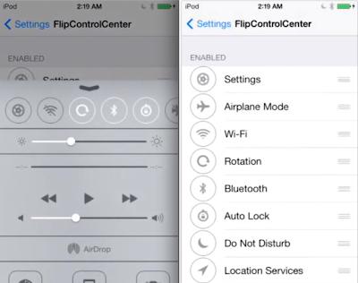 Ryan Petrich Finally Release Beta Of New FlipControlCenter Tweak