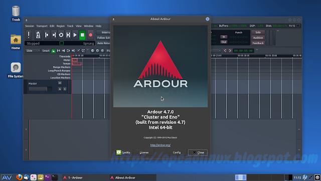 Ardour 4.7.0 no AV Linux 2016