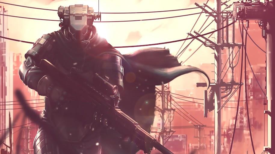 Sci-Fi, Soldier, Sniper Rifle, 4K, #75