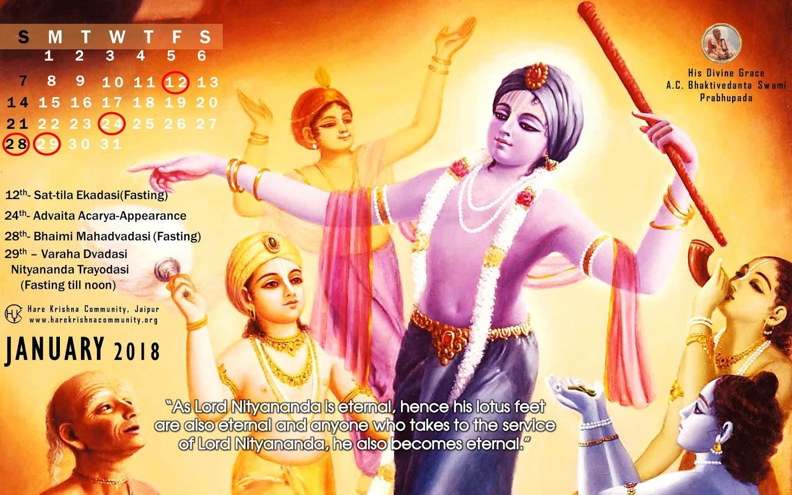 Hare Krishna Community Jaipur: Vaishnava Calendar: January