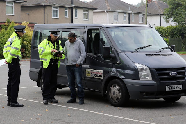 Drivers stopped in Huddersfield as part of European Day Without a Road Death