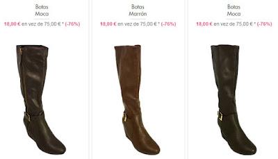 botas baratas mujer