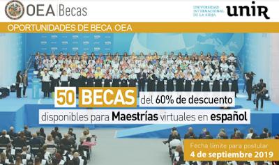 Aplica hoy a las Becas OEA 2019