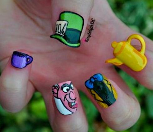 Alice in Wonderland Inspired Nails | The Great Monkey Suit ...