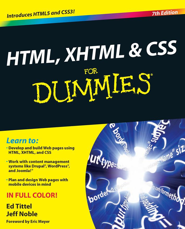 HTML, XHTML and CSS For Dummies, 7th Edition