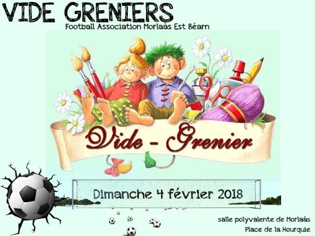 vide greniers du foot Morlaàs Est Béarn 2018