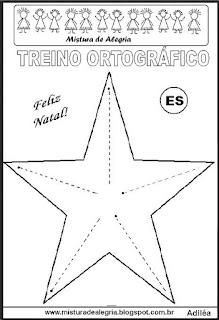 Treino ortográfico símbolos do natal estrela