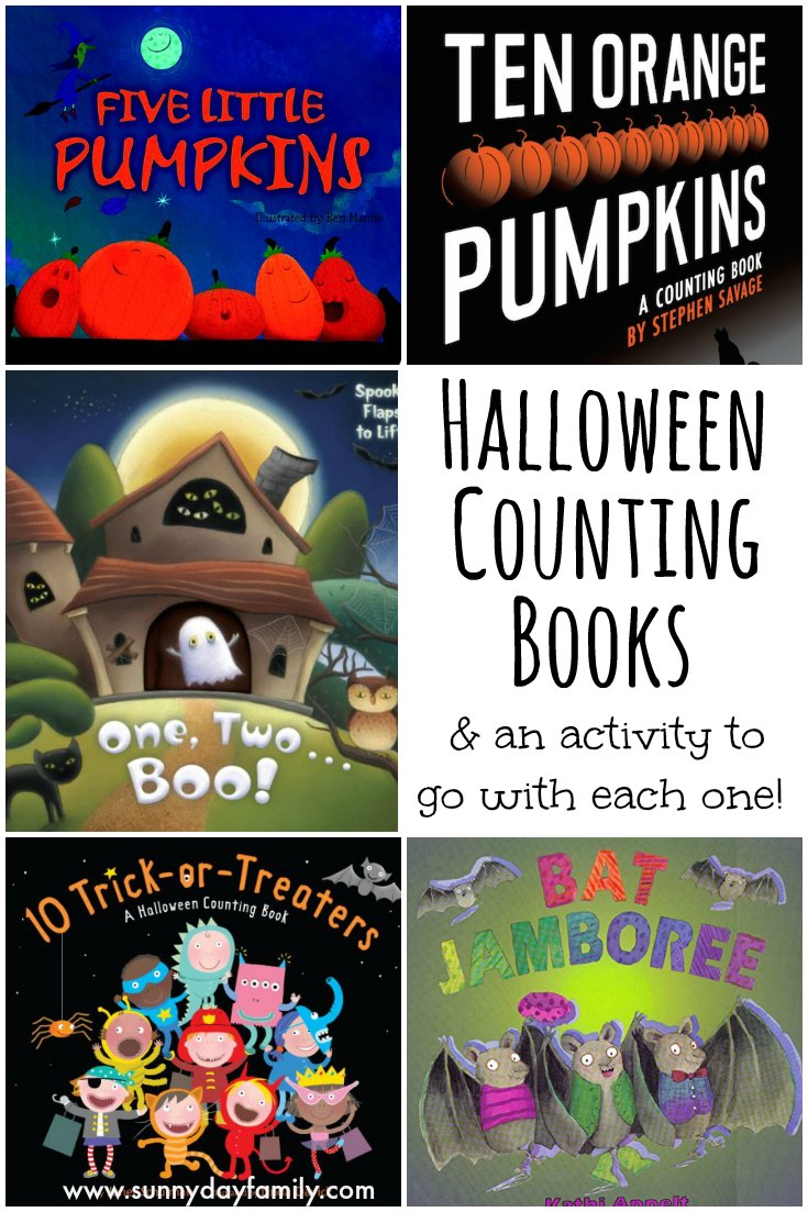 Help kids practice counting with these spooky fun Halloween Counting Books and matching activities!