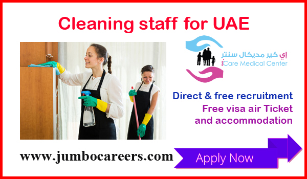 Direct and free recruitment jobs in UAE, UAE jobs with benefits,