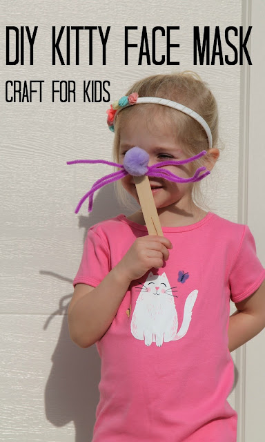 DIY Kitty Face Mask Craft || The Chirping Moms